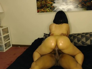Rides dick cowgirl loves it...