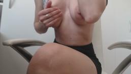 Masturbate at work :Day 99 : Nipple Rubbing make' s me so wet