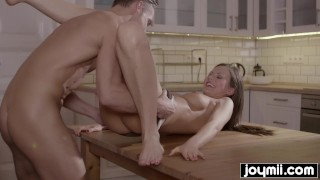 Joymii- hungry husband eats young and juice pussy for dinner from incredib