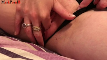 Neighbour fingering pussy on my bed
