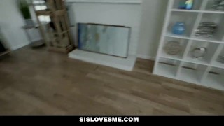 Stepbrother sislovesme in pervy caught gets stepsis bathroom on snooping latin of