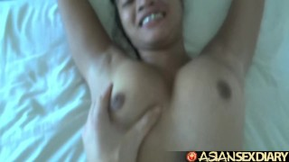 Asian Sex Diary - Filipina cutie gets furry pussy creampied  big tits asian blowjob amateur pov hardcore asiansexdiary petite filipina doggystyle big boobs natural tits bent over