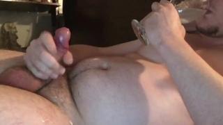 Camguy Cums 4 Times During CEI! Good boy Cumslut. Hush Butt Plug :3