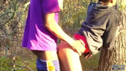 Outdoor Quickie Almost Got Her Pregnant