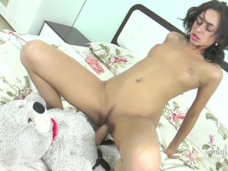 My Teddy Bear feel as soft as my boobs so I got horny and fucked it