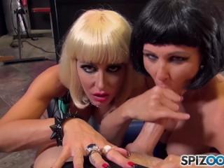 Spizoo - Jessica Jaymes and Julia Ann sucking a big dick, big boobs