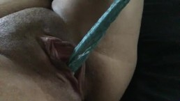 Pulling panties out of my pussy
