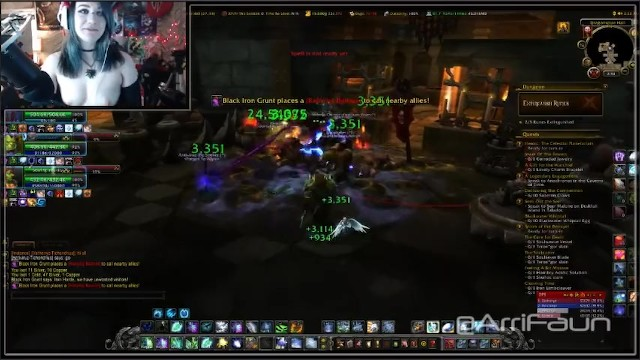 Female orgasm worlds - World of warcraft gamer girl does her best to heal while cumming
