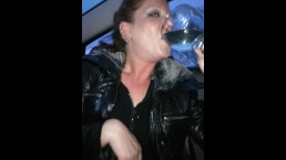 sexxycandyxxx car piss drink