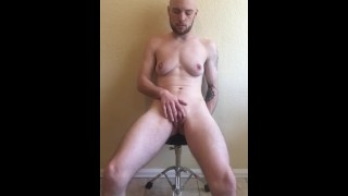 Trans Guy Close up, pussy fucked with big dildo
