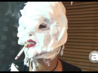 Sandi Shaving Cream Lipstick Smoking