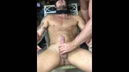 Wanked until I Cum while tied to a chair