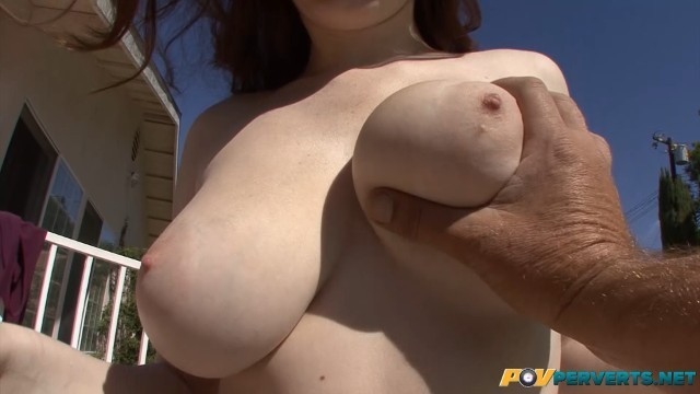 FRECKLED REDHEAD CHLOE TAYLOR MAKES HIM CUM WITH HER BIG NATURAL TITS