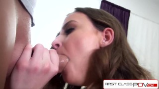 FirstClassPOV- Teen Jay Taylor take a monster cock in her throat, big booty Masturbation high