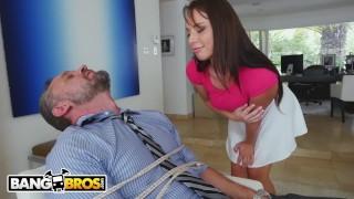 BANGBROS - PAWG Step Daughter Aidra Fox Takes Control Of Daddy Mom redhead