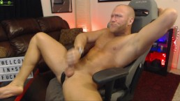 Stright Muscle Jock Cum Shot On Chaturbate With Lovense Edge!!