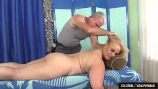 Older Blonde Summer Has Her Body and Genitals Massaged