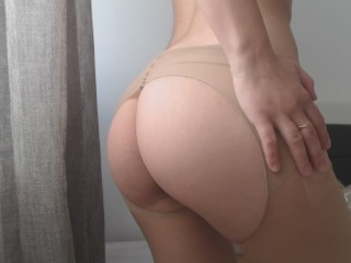 Morning orgasm while standing up ,ripped pantyhose