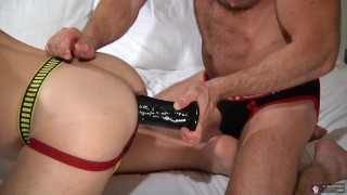 Man or daddy toy fist both black young does jockstrap gape