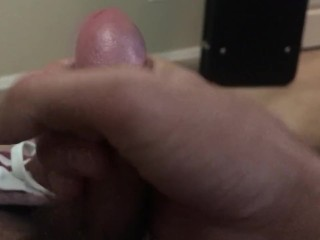 Jerking and cumming to a riding compilation