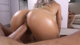 Teen Sloppy Blowjob and Bubble Butt Fuck POV