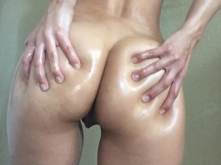 Oiled Up Ass, Thick White Girl Booty