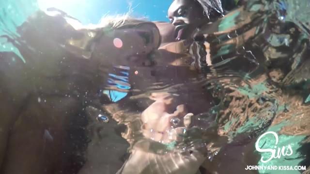 SinsLife - Girls Take Turns Fucking Huge Dick in the Pool! 18