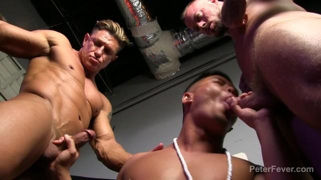 Asian gay men naked Alex chu. sean duran and bryce evans in black panda ep 2 fuckfest