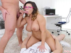 VIRTUAL TABOO - Hardcore Threesome With Curvy Hottie