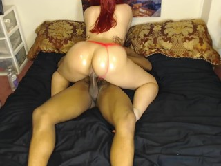 Sexy girl bounces panties while daddys gone...