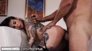 Big Cock Pounds Joanna Angel to Jizz Explosion on Tattoos!