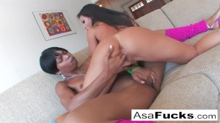 Asa's Hot Girl on Girl With Marie Luv