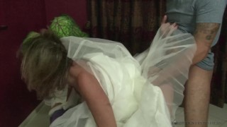 Stepmother Jodi West Fucks son in her wedding dress Homemade point