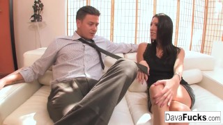 Casting couch with Bradley that ends with a creampie Sloppy interracial