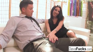 Couch creampie that ends a bradley with casting with missionary trimmed