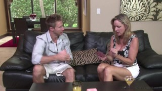 Jodi West fuck stepson Levi Cash after losing bet during Family Game Night! Ass oral