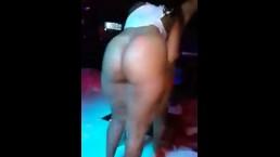 Lesbian orgy at strip club
