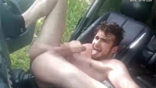 Young French twink car JO - Thony Grey Male young