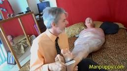 Plastic Wrap Bondage Foot Tickling - Leo Blue - Richard Lennox - Manpuppy