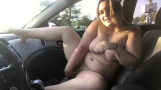 CAUGHT RIDING MY DILDO ON DASHBOARD PUBLIC VIDEO XX