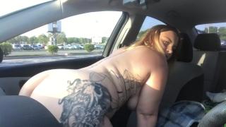 CAUGHT RIDING MY DILDO ON DASHBOARD PUBLIC VIDEO XX