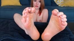 Oily Feet Dirty Talk Tease