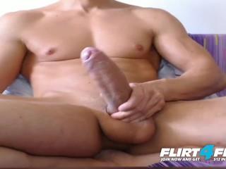 Markley on Flirt4Free - Faceless Muscle Stud Has One Enormous Uncut Cock