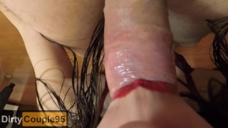 FPOV Blowjob swallow FEMALE POV, I swallow all his load (CLOSE UP BLOWJOB)