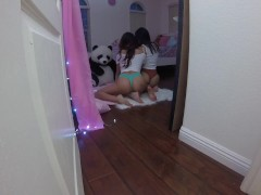 Peeping On My Sis Sami Parker and Her Slutty Friend Emily Willis