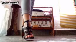 My new Black High Heels - Shoe Fetish (Teaser)