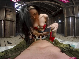 VRBangers.com-Amazing Wonder Woman cosplay fuck VR Porn video