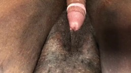 Dick sliding on wet pusst