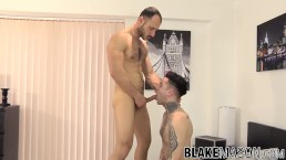 Handsome inked stud hammered in ass by hunk boyfriend