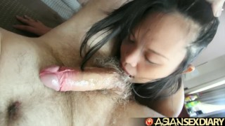 Asian Sex Diary - BBW Filipina Milf gets creampie from white dude